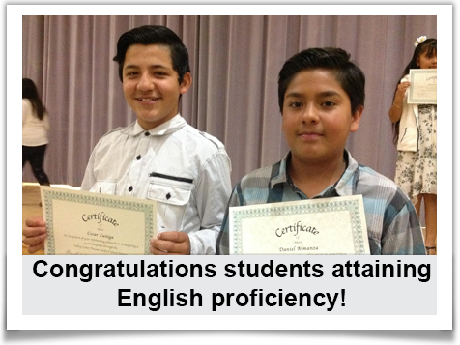 Congratulations students attaining English proficiency!